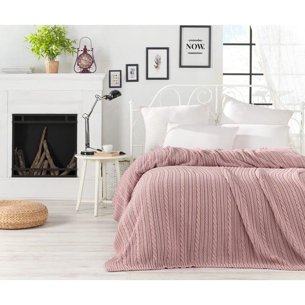 Cuvertură ușoară Camila, 220 x 240 cm, roz pudrat