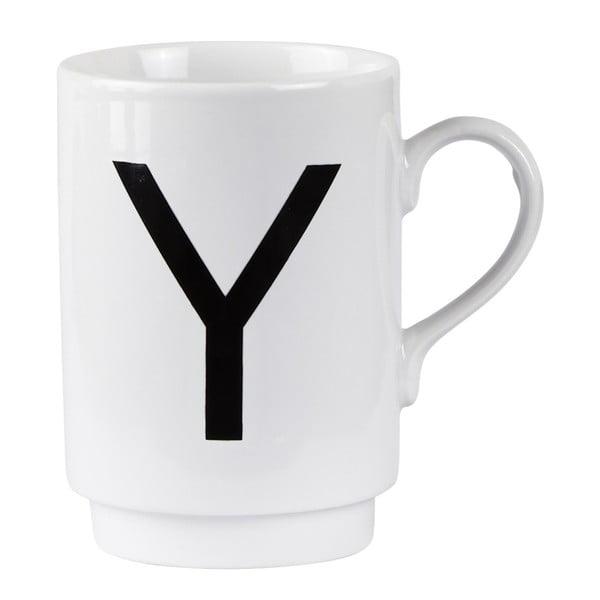 Porcelánový písmenkový hrnek Y