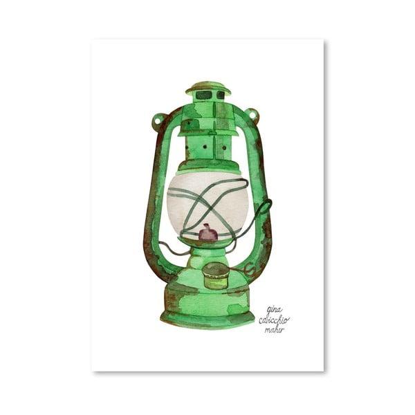 Autorský plakát Oil Lamp, 30x42 cm