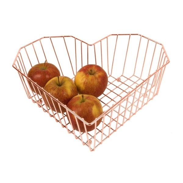 Měděná mísa na ovoce Present Time Heart Copper