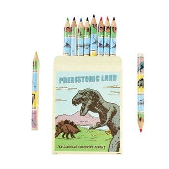 Set 10 creioane în husă cu model cu dinozaur Rex London imagine