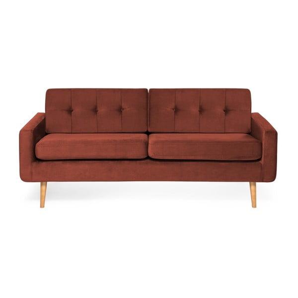 Czerwona sofa 3-osobowa Vivonita Ina Trend