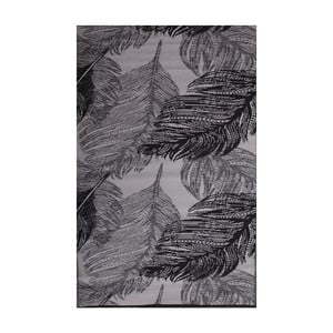 Šedý oboustranný venkovní koberec Green Decore Leaves, 90 x 150 cm