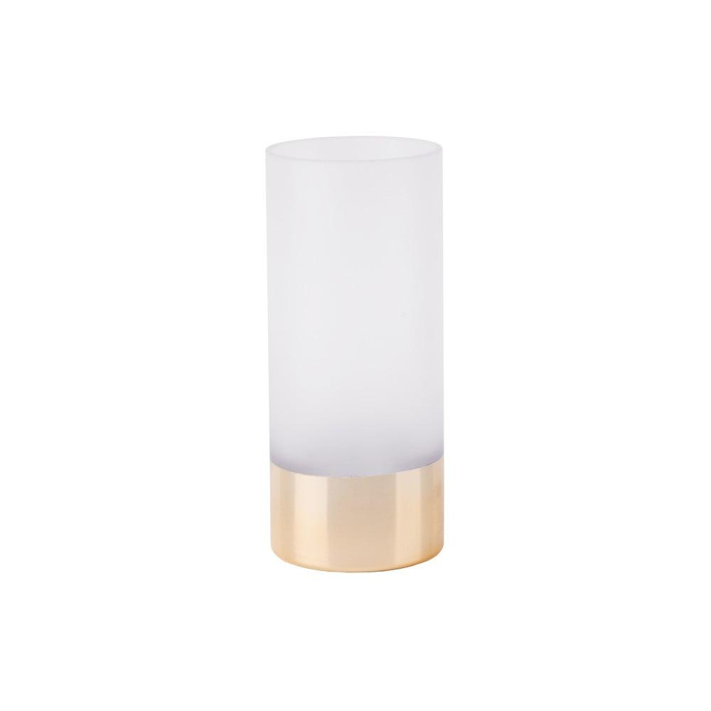 Bílo-zlatá váza PT LIVING, výška 18,5 cm