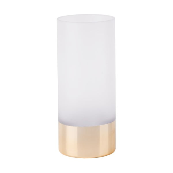 Fehér-aranyszínű váza, magasság 18,5 cm - PT LIVING