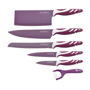 6dílná sada nožů Chef Non-stick Color, fialová