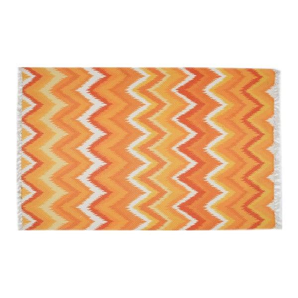 Oranžový koberec Eco Rugs Tribe, 80x150cm