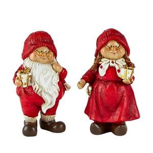 Set 2 figurine decorative de Crăciun KJ Collection Pixie