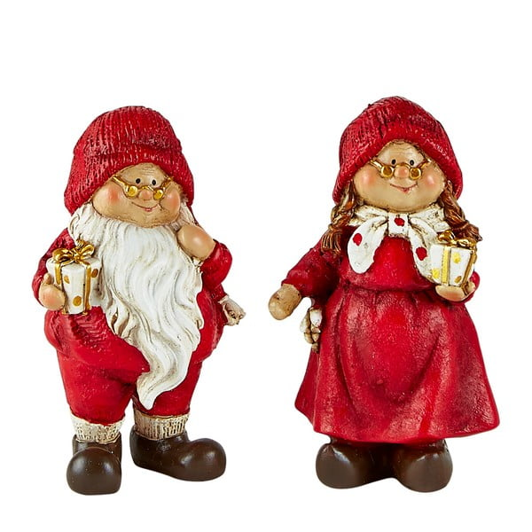 Set 2 figurine decorative de Crăciun KJ Collection Pixie