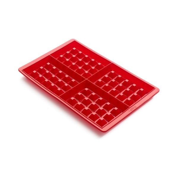 Červená silikónová forma na wafle Lékué