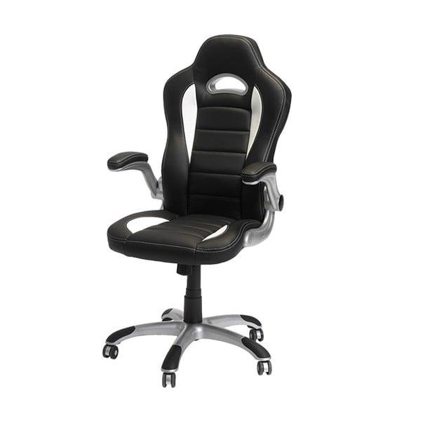 Czarno-biały fotel biurowy Furnhouse Speedy 3