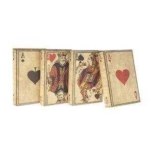 Set 4 cutii din lemn Antic Line Cards