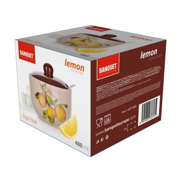 Keramická cukřenka se lžičkou Banquet Lemon