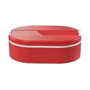 Cutie termică ovală pentru prânz Enjoy, 1,4 l, roșu