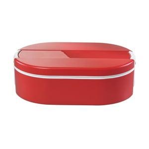 Červený oválný termo box na oběd Enjoy, 1,4 l