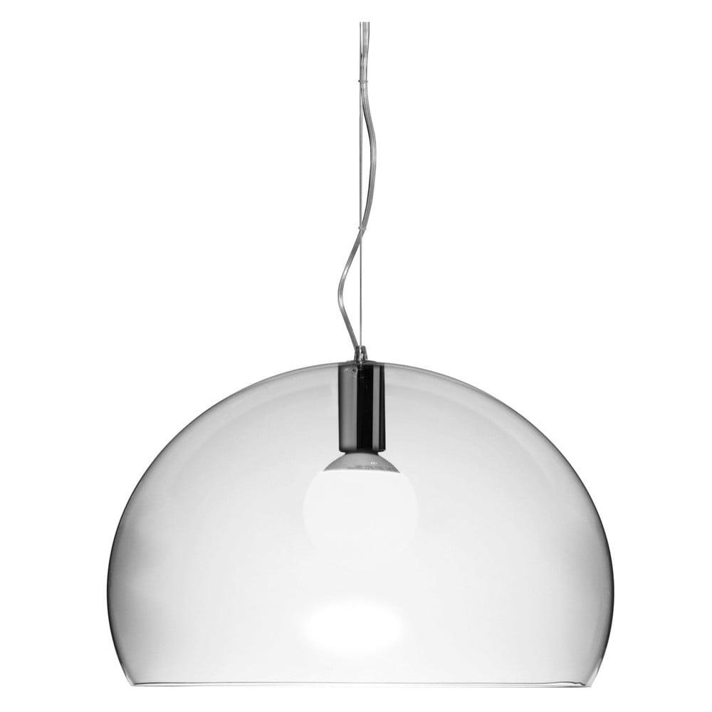 Transparentní stropní svítidlo Kartell Fly, ⌀ 52 cm