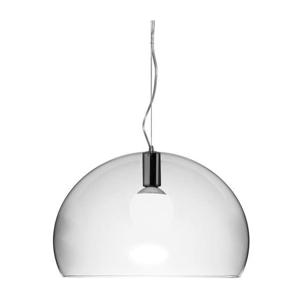 Transparentní stropní svítidlo Kartell Fly, ⌀52cm