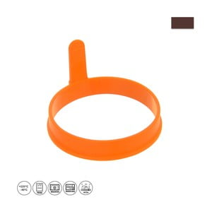 Oranžová silikonová forma na volská oka a lívance Orion Pancake, ⌀ 9,5 cm