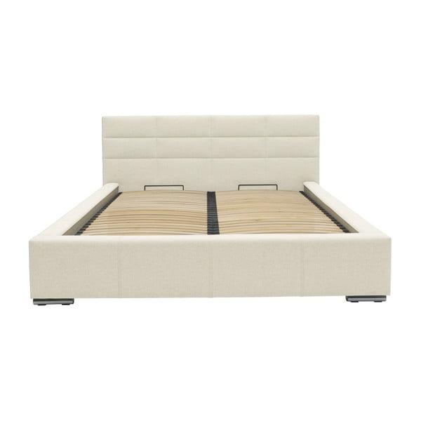Béžová dvoulůžková postel Mazzini Beds Reve, 180x200cm