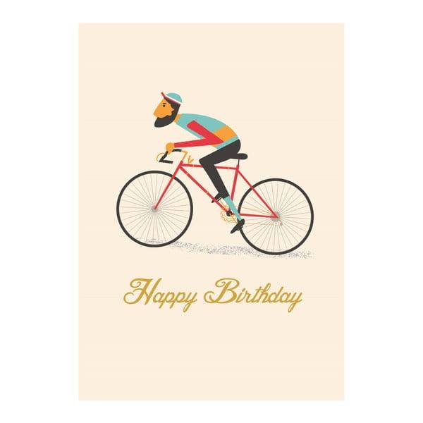 Felicitare zi de naștere Rex London Le Bicycle