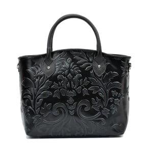 Černá kožená kabelka Renata Corsi Mismana Terra