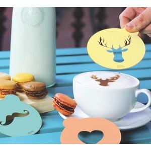 Dekorativní vzorníky na kávu DOIY Hip Coffee