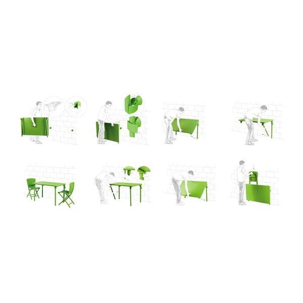 Skládací stůl Zic Lime, zelená