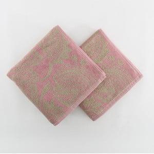 Sada 2 ručníků Mink, 100x50 cm