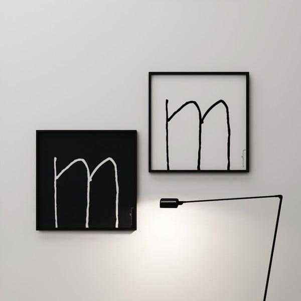 Plakát Litera M, 50x50 cm