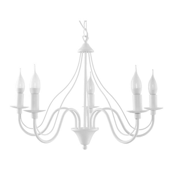 Lustră Nice Lamps Floriano 5, alb