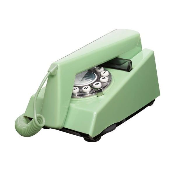 Retro funkční telefon Trim Swedish Green