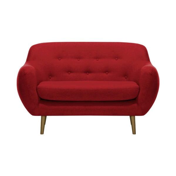 Czerwona sofa 2-osobowa Vivonita Gaia