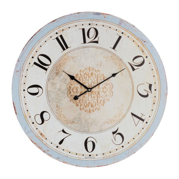 Biele nástenné hodiny Brandan Vintage, ⌀ 60 cm