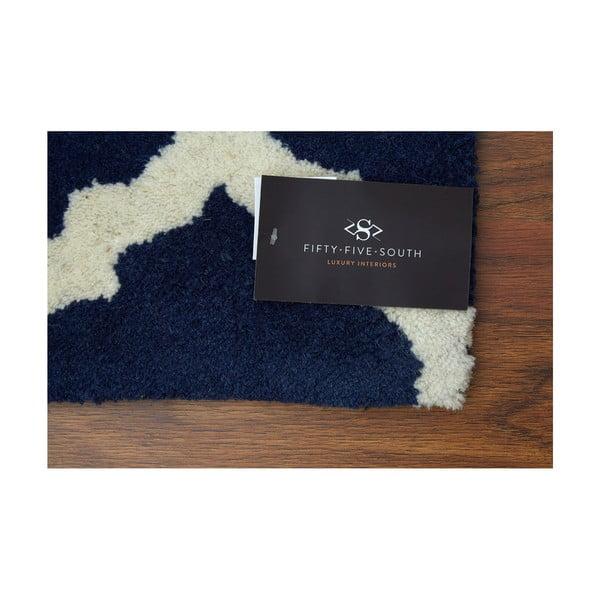Ručně vyšívaný koberec Kensington, 120x180 cm, tmavě modrá