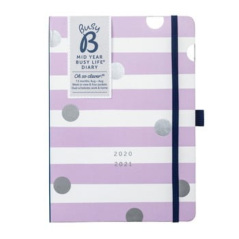 Jurnal din august 2020 până în august 2021 Busy B Lilac Lemonade, alb-violet imagine