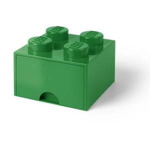 Tmavě zelený úložný box se šuplíkem LEGO®