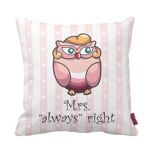 Polštář Mrs Owl, 43x43 cm