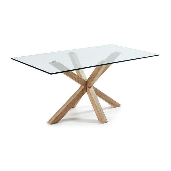 Jídelní stůl s dřevěným podnožím La Forma Arya,délka160cm