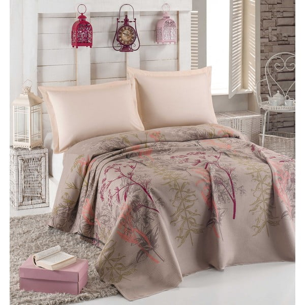 Narzuta na łóżko dwuosobowe Urla Beige, 200x235 cm