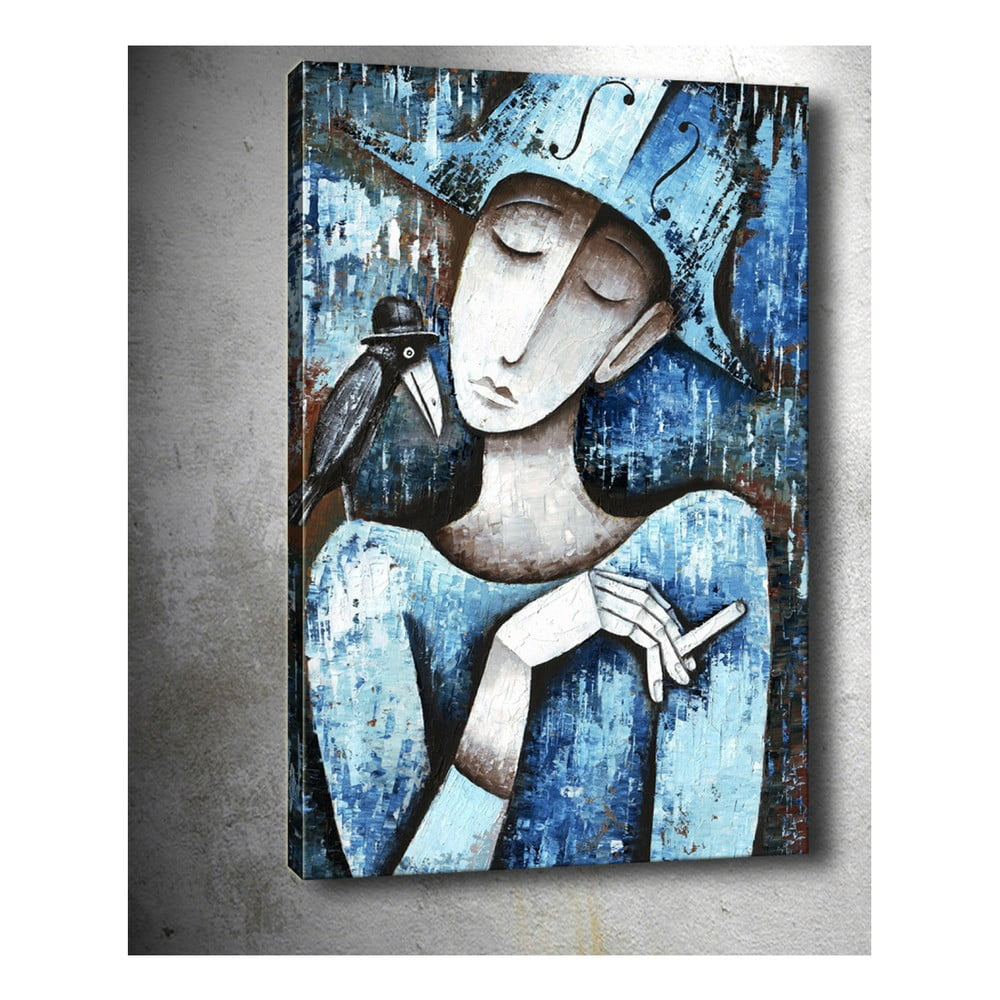 Obraz Tablo Center Girl With Cigarette 40 x 60 cm