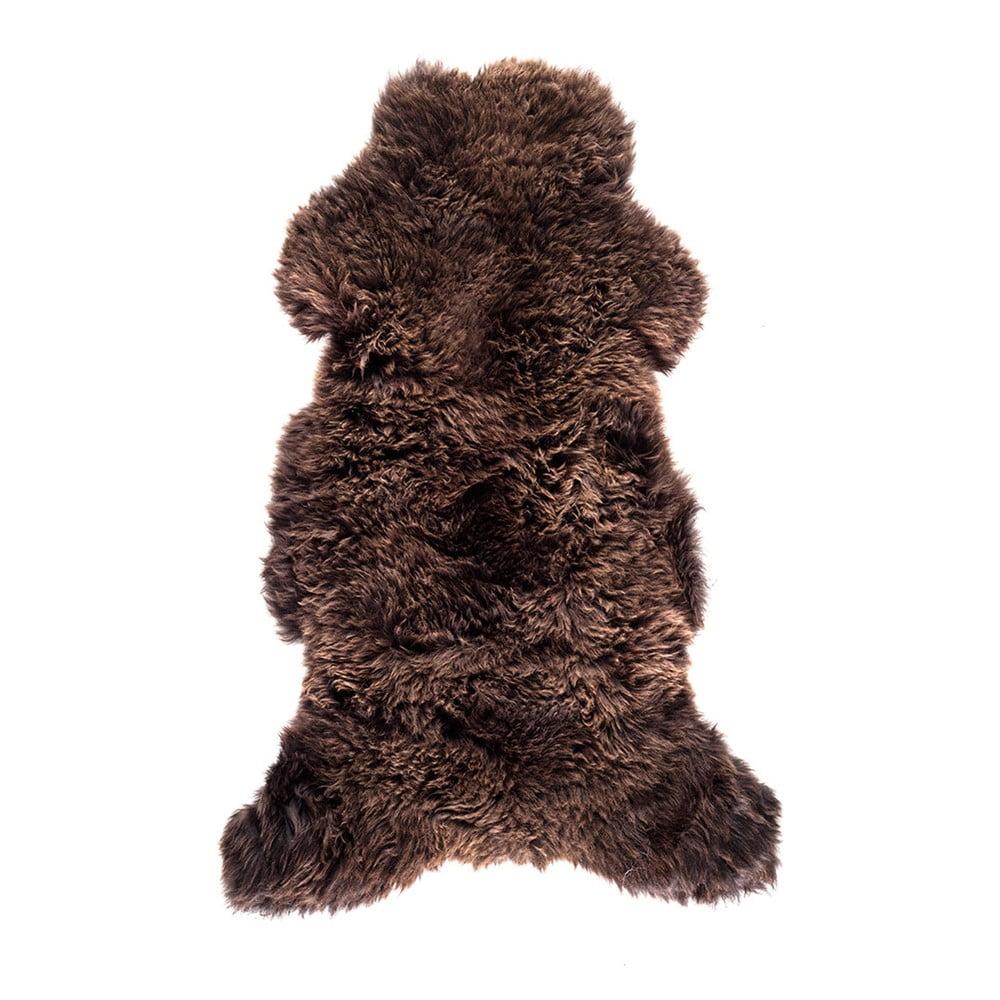 Tmavě hnědá ovčí kožešina Royal Dream Sheep Brown, 120 x 60 cm