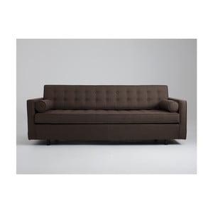 Canapea extensibilă 3 locuri Custom Form Topic, maro