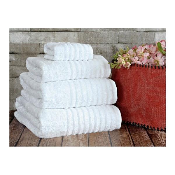 Bílý ručník Irya Home Wellas Bamboo, 50x90 cm