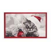 Rohožka Hanse Home Christmas Cat, 45x75 cm
