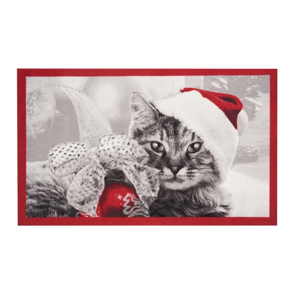 Rohožka Hanse Home Christmas Cat, 45 x 75 cm