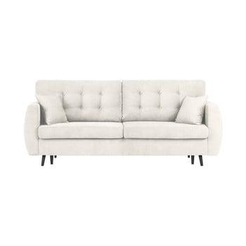 Canapea extensibilă cu 3 locuri și spațiu pentru depozitare Cosmopolitan design Rotterdam 231x98x95cm argintiu