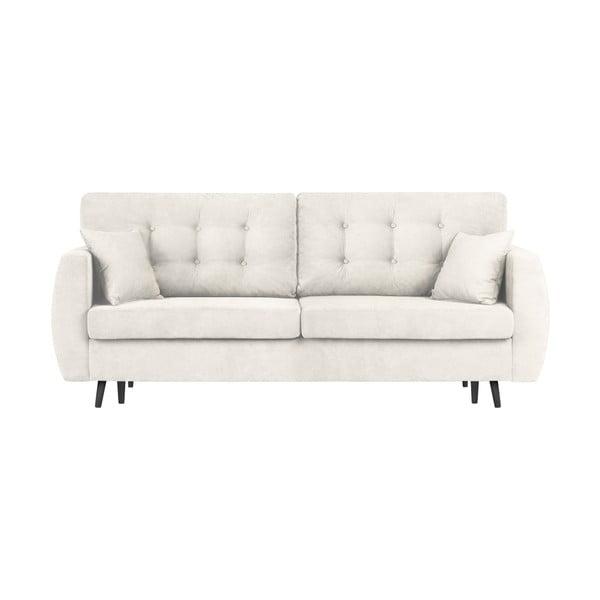 Canapea extensibilă cu 3 locuri și spațiu pentru depozitare Cosmopolitan design Rotterdam, 231x98x95cm, argintiu