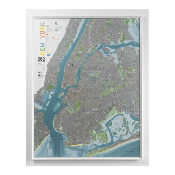 Mapa New York City The Future Mapping Company Street Map, 130 x 100 cm