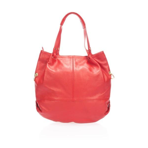 Kožená kabelka Piscila, červená