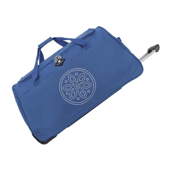 Modrá cestovná taška na kolieskach GERARD PASQUIER Miretto, 45 l